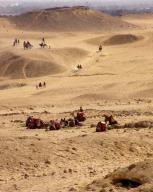 egypt;-giza;-pyramids;-giza-plateau;-camels;-desert