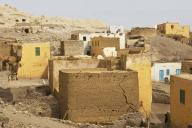 egypt;-town;-village;-homes;-mud-homes;-alley;-street;-mud-brick;-poor;-home;-life