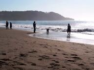 waves;-sunset;-silhoutte;-sand-;-San-Fransisco;-Bay;-Pacific-Ocean;-ocean;-Baker-Beach;-people;-play;-leisure;