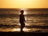 waves;sunset;silhoutte;sand;San;Fransisco;Bay;Pacific;Ocean;ocean;Baker;Beach;people;leisure